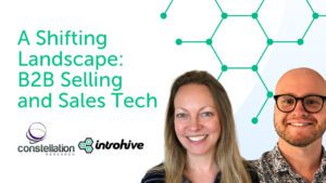 A shifting landscape: b2b selling and sales tech